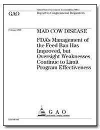 Fda's Management of the Feed Ban Has Imp... by General Accounting Office