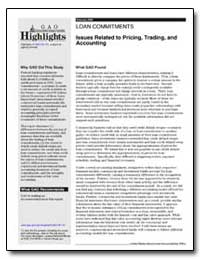 Issues Related to Pricing, Trading, And ... by General Accounting Office