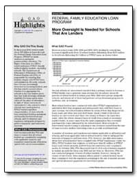More Oversight Is Needed for Schools Tha... by General Accounting Office