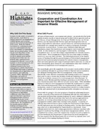 Cooperation and Coordination Are Importa... by General Accounting Office