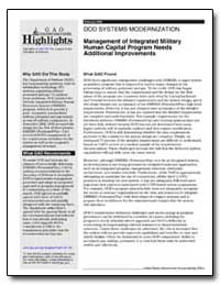 Management of Integrated Military Human ... by General Accounting Office
