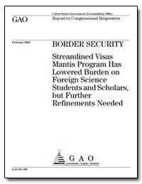 2005 Border Security Streamlined Visas M... by Boehlert, Sherwood