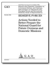 Actions Needed to Better Prepare the Nat... by General Accounting Office