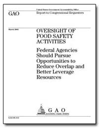 Oversight of Food Safety Activities by Voinovich, George V.