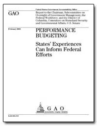 Performance Budgeting States Experiences... by Voinovich, George V.