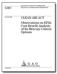Clean Air Act Observations on Epa's Cost... by General Accounting Office
