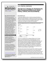 The Services Strategy for Realigning Its... by General Accounting Office