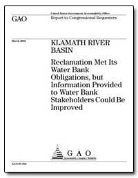 Klamath River Basin Reclamation Met Its ... by Waxman, Henry A.