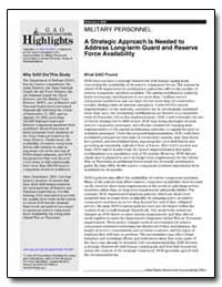 A Strategic Approach Is Needed to Addres... by General Accounting Office