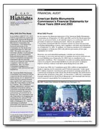American Battle Monuments Commission's F... by General Accounting Office