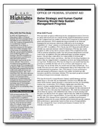 Better Strategic and Human Capital Plann... by General Accounting Office