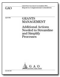 Grants Management Additional Actions Nee... by General Accounting Office
