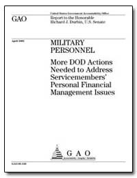 Military Personnel More Dod Actions Need... by Durbin, Richard J.