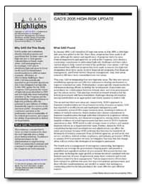 Gao's 2005 High-Risk Update by General Accounting Office