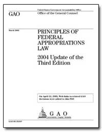 Principles of Federal Appropriations Law... by General Accounting Office