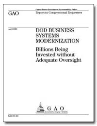 Dod Business Systems Modernization Billi... by General Accounting Office
