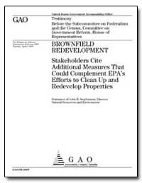Brownfield Redevelopment Stakeholders Ci... by Stephenson, John B.