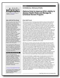 Options Exist to Improve Epas Ability to... by General Accounting Office