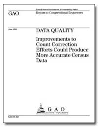 Data Quality Improvements to Count Corre... by Maloney, Carolyn B.