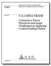 U.S.-China Trade Commerce Faces Practica... by Shel, Richard C., Senator