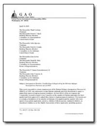 Immigration Benefits : Twelfth Report Re... by Jones, Paul L.