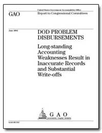 Dod Problem Disbursements Long-Standing ... by General Accounting Office