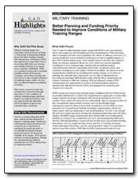 Better Planning and Funding Priority Nee... by General Accounting Office