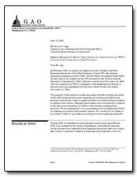 Management Report : Opportunities for Im... by Sebastian, Steven J.