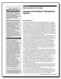 Assessing the President's Management Age... by General Accounting Office