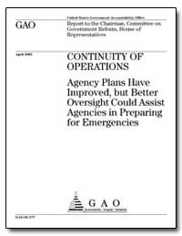 Continuity of Operations Agency Plans Ha... by Koontz, Linda D.