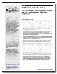 The Future of the Defined Benefit System... by General Accounting Office