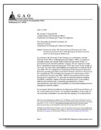 Financial Audit : The Department of Hous... by Engel, Gary T.