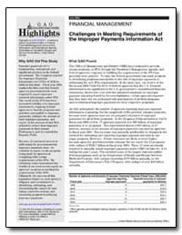 Challenges in Meeting Requirements of th... by General Accounting Office