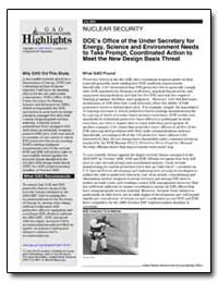 Doe's Office of the under Secretary for ... by General Accounting Office