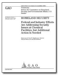 Homeland Security Federal and Industry E... by Stephenson, John B.