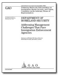 Department of Homeland Security Addressi... by Stana, Richard M.