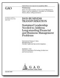 Dod Business Transformation Sustained Le... by Kutz, Gregory D.
