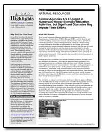 Federal Agencies Are Engaged in Numerous... by General Accounting Office