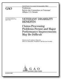 Veterans Disability Benefits Claims Proc... by Bascetta, Cynthia A.