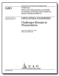 Influenza Pandemic Challenges Remain in ... by Crosse, Marcia