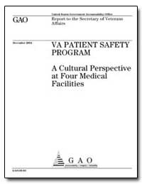A Cultural Perspective at Four Medical F... by General Accounting Office