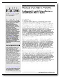 Inadequate Oversight Raises Concerns abo... by General Accounting Office