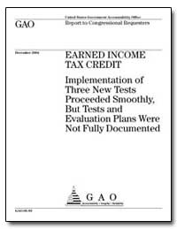 Implementation of Three New Tests Procee... by General Accounting Office