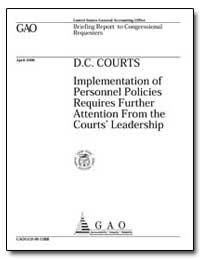 D. C. Courts Implementation of Personnel... by Brostek, Michael