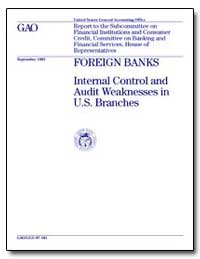 Foreign Banks Internal Control and Audit... by Mccool, Thomas J.