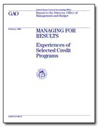 Managing for Results Experiences of Sele... by Mihm, J. Christopher
