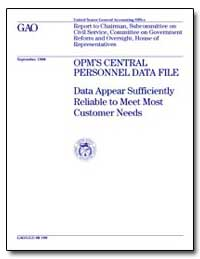 Opms Central Personnel Data File Data Ap... by Stevens, L. Nye