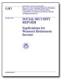 Social Security Reform Implications for ... by Ross, Jane L.