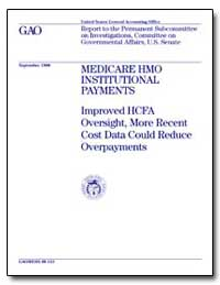 Medicare Hmo Institutional Payments Impr... by Scanlon, William J.