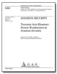 Aviation Security Terrorist Acts Illustr... by Dillingham, Gerald L.
